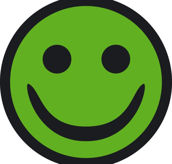 Vi har fået den grønne smiley